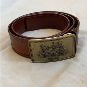 COACH heritage leather horse &carriage buckle belt